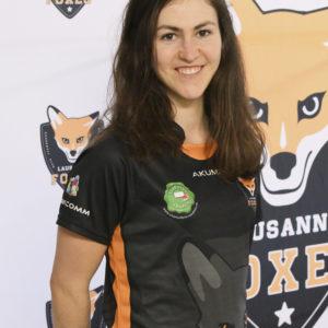 Lausanne Foxes Dodgeball Aline Rossel Portrait