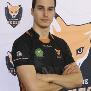 Lausanne Foxes Dodgeball Melvic Cretegny Portrait