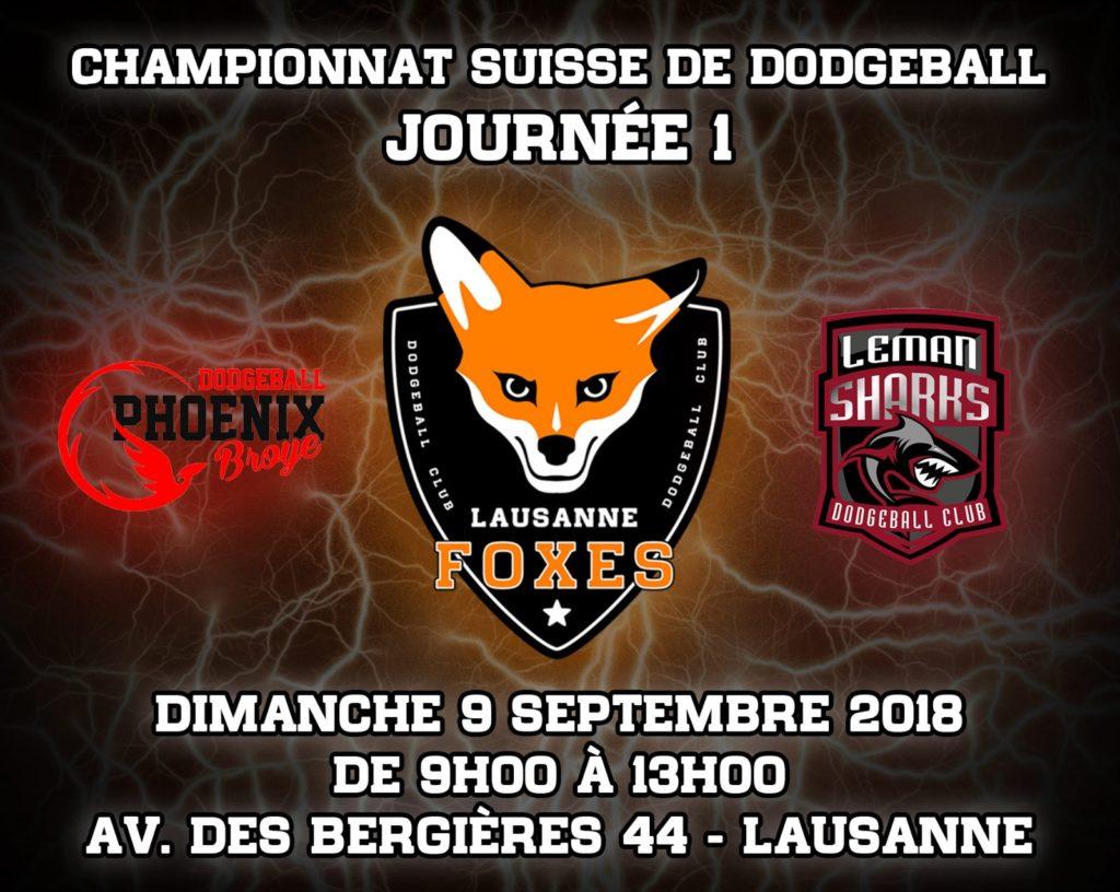 Lausanne Foxes Dodgeball journée de championnat 1