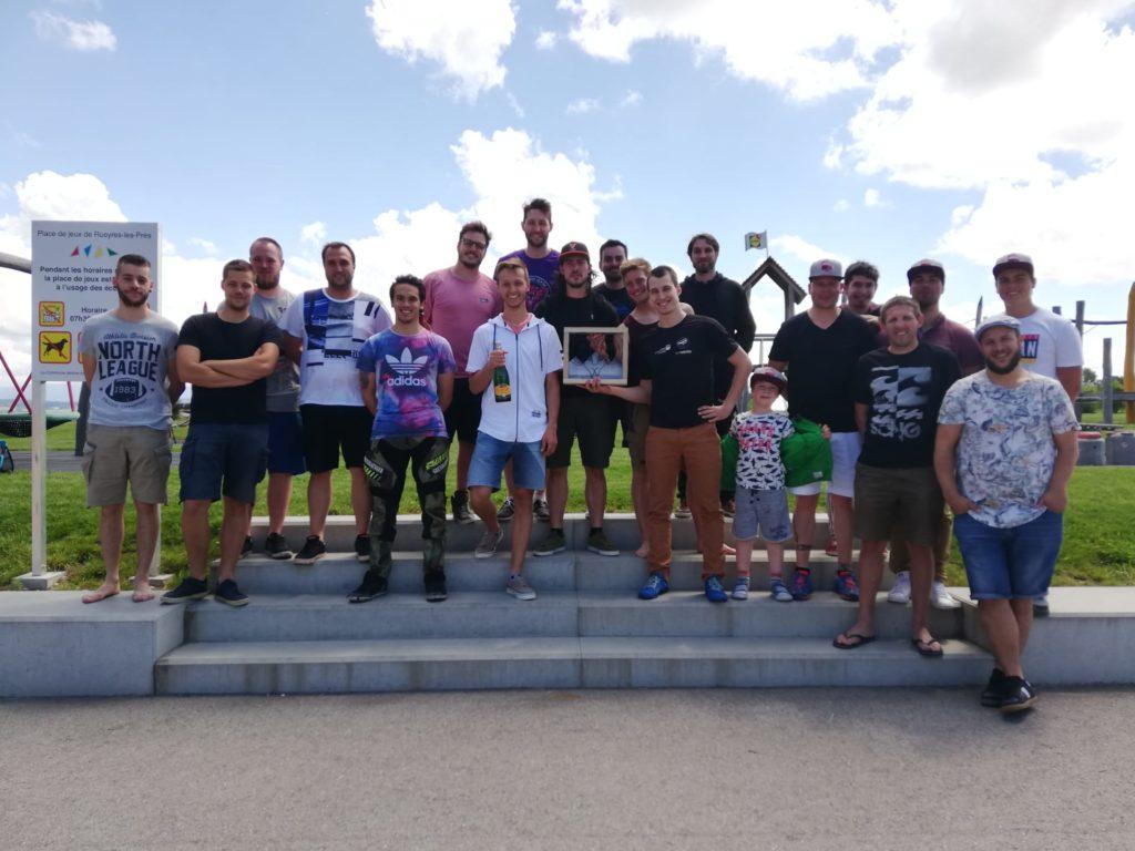 Podium homme championnat suisse dodgeball 2018 2019